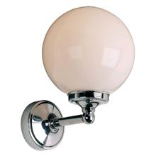 """View Product - Classic single wall bracket with 6"""" opal globe, max. wattage 40W (S.E.S. bulb) (recommended for use in Zone 3 applications)"""