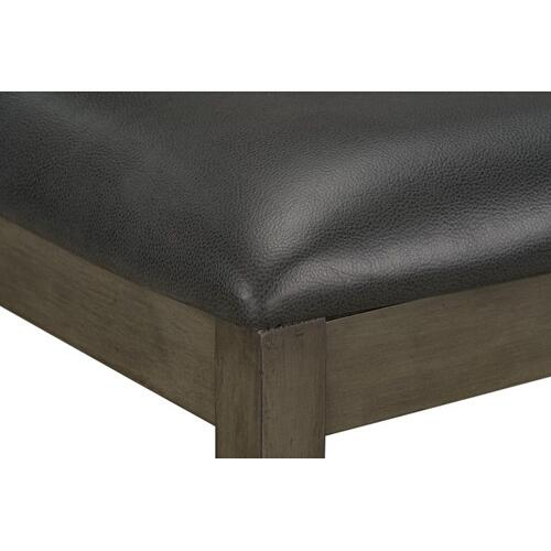 Standard Furniture - Halden Grey Counter Height Upholstered Bench, Grey
