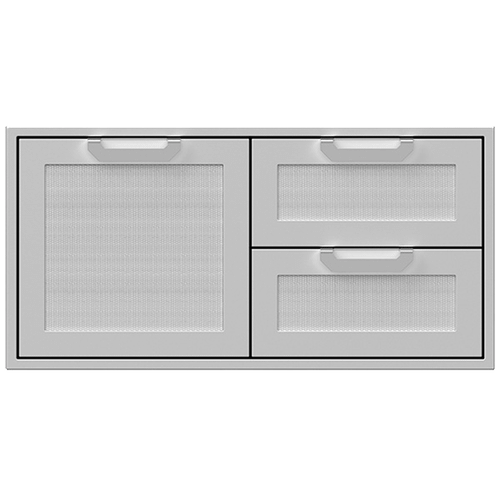 "42"" Hestan Outdoor Combo Door/Drawer - AGSDR Series - Steeletto"