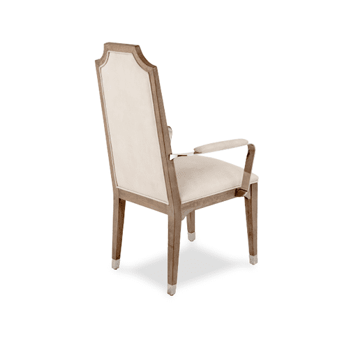 Biscayne West Arm Chair w/Stainless Steel Arm Haze