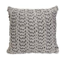 Hadley Grey Crochet Pillow