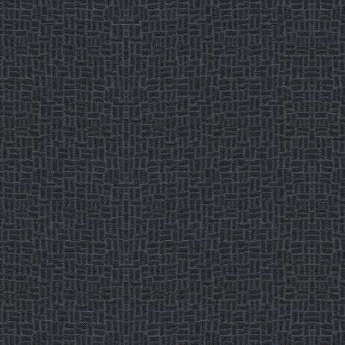 Flash Furniture - 18.5''W Church Chair in Cobblestone Tartan Blue Fabric with Book Rack - Gold Vein Frame