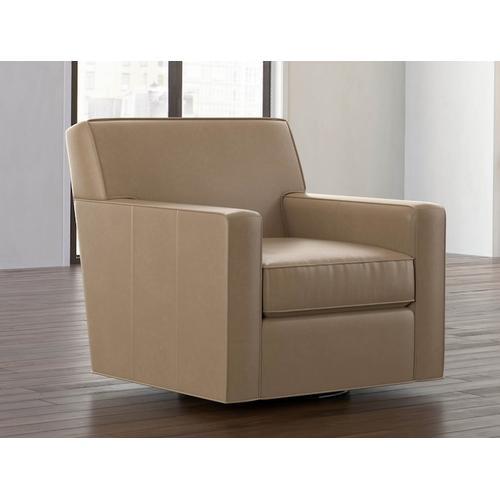 Bassett Furniture - Landis Leather Swivel Chair