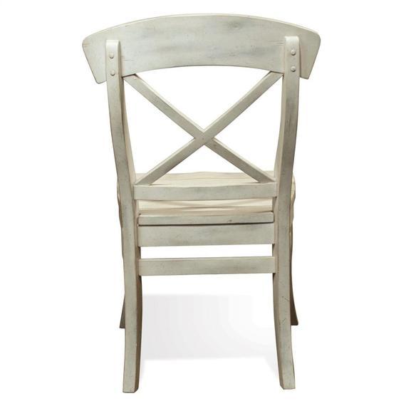 Riverside - Regan - X-back Side Chair - Farmhouse White Finish