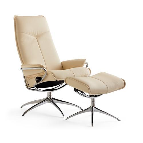 Stressless By Ekornes - Stressless City chair high back w/high base