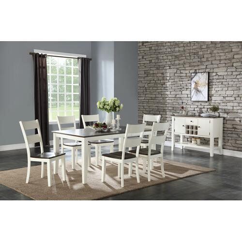 Merrill Creek Dining Chair, Deep Brown & White 8208-521-s