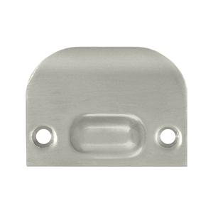 Full Lip Strike Plate For Ball Catch and Roller Catch - Brushed Nickel