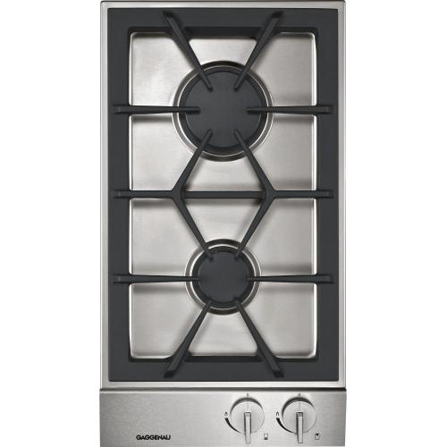 Gaggenau - 200 series Vario 200 series gas cooktop Stainless steel control panel Width 12 '' (38 cm) Natural gas.