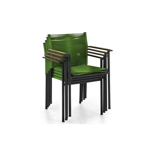JAKARTA Stackable Dining Arm Chair w/ cushion - Olive