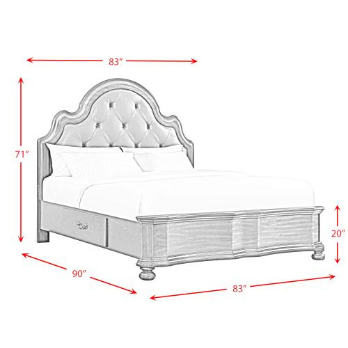 Avery King 2-Drawer Platform Storage Bed