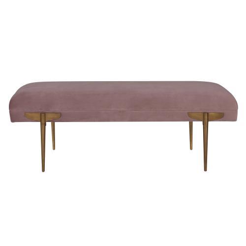 Tov Furniture - Brno Mauve Velvet Bench