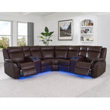 Levin Cocoa 4-Piece Power Reclining Sectional