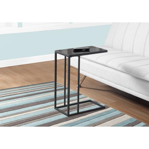 Gallery - ACCENT TABLE - BLACK METAL / BLACK TEMPERED GLASS