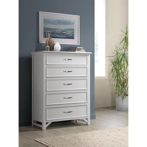 Riverside - Talford Cotton - Five Drawer Chest - Cotton Finish