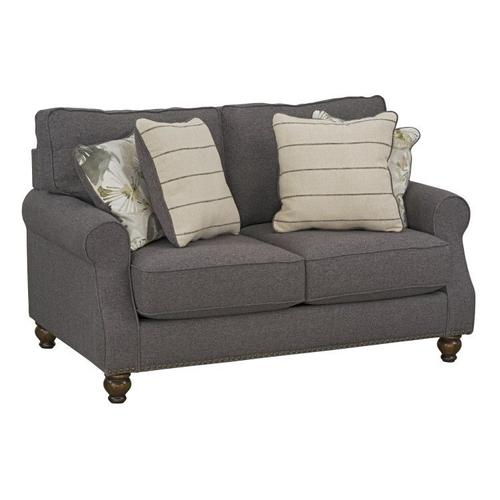 Angelina Upholstered Loveseat, Charcoal