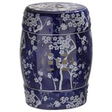 Midnight Kiss Garden Stool - Dark Blue