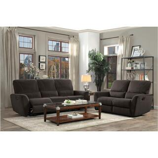 See Details - Dowling Reclining Sofa Chocolate