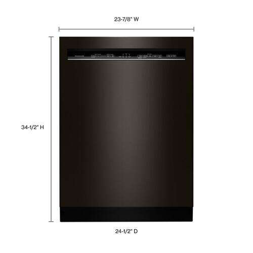 46 DBA Dishwasher with ProWash , Front Control - Black Stainless Steel with PrintShield™ Finish