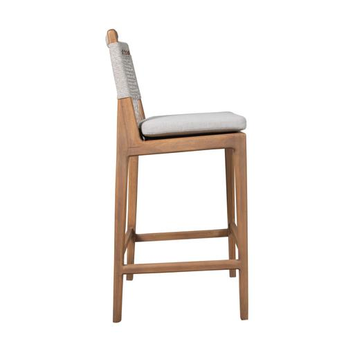 Capris Furniture - 30'' Bar Stool, Available in Mahogany Taupe (w Taupe Loose Cushion).