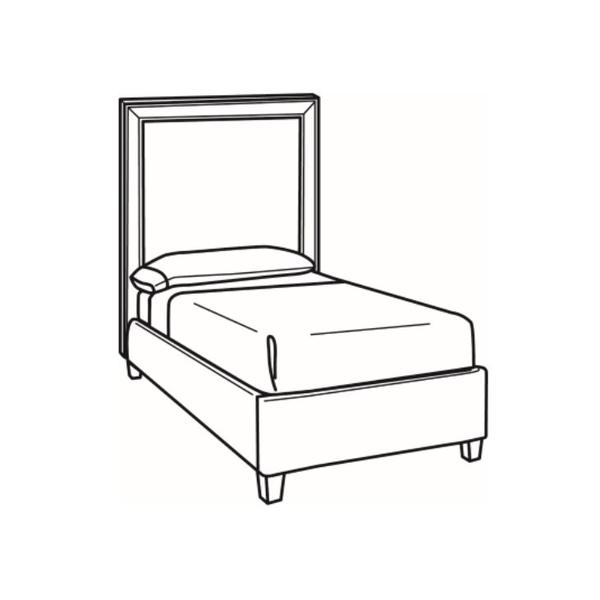 See Details - Twin Bed with Tall Headboard