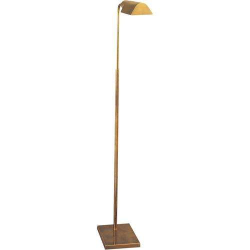 "Visual Comfort 91025HAB Studio Classic 34 inch 60 watt Hand-Rubbed Antique Brass Task Floor Lamp Portable Light, Shade is 3.5"" by 6 by 2"