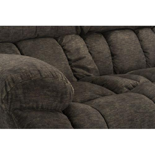 Seymore Manual Motion Reclining Sofa with Drop Table, Brown
