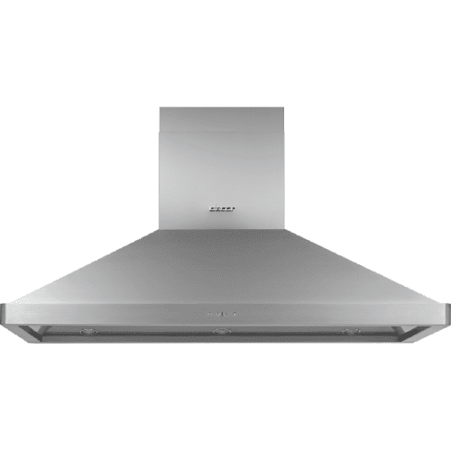 "54"" Chimney Island Hood, Silver Stainless Steel"