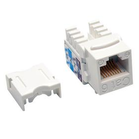 Cat6/Cat5e 110 Style Punch Down Keystone Jack - White, 25-Pack, TAA