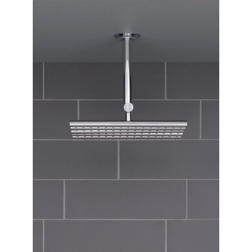 Head shower, ceiling mounted - Brushed chrome
