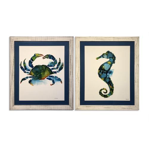 2 Pc Crab/Seahorse