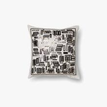 View Product - P0196 White / Gold Pillow