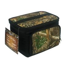 See Details - Brentwood Kool Zone CM-600 6-Can Insulated Cooler Bag with Hard Liner, Realtree Edge Camo