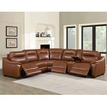 Casa Coach 6-Piece Dual-Power Reclining Leather Sectional