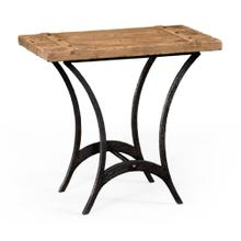 """Plank top """"Utility"""" side table"""