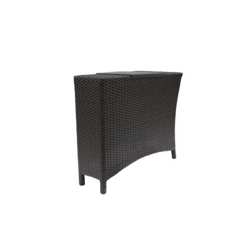 Ratana - Palm Harbor Wedge End Table w/Mesh Support & Aluminium Tray