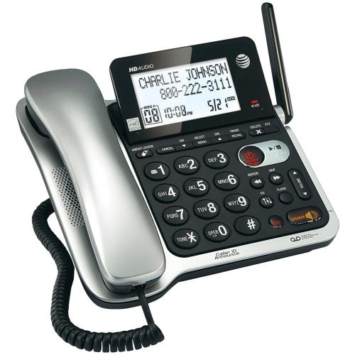 DECT 6.0 Corded/Cordless Phone System with Digital Answering System & Caller ID/Call Waiting