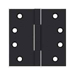 "4""x 4"" Square Knuckle Hinges, Solid Brass - Paint Black"