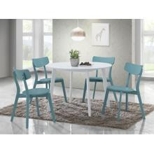 See Details - Roma Contemporary 5-PC Wood Dining Set, Blue