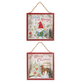 Folkloric Christmas - Light Up Wall Plaques (4 pc. ppk.)
