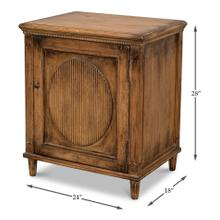 See Details - Ribbon One Door Commode, Brown