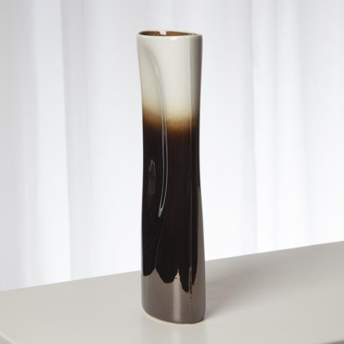 Pinch Vase-Bronze and Cream-Med