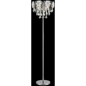 Floor Lamp, Chrome/flower/crystals, Type Jcd/g9 40wx5