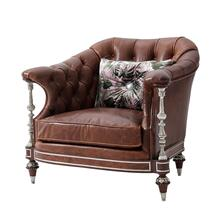 Leora Club Chair - Tufted Back