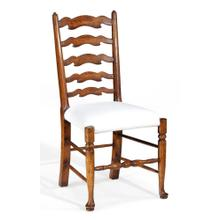 Walnut country ladder back chair (Cushion)