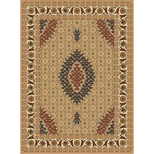 "Persian Design 1 Million Point Heatset Monalisa T02 Area Rugs by Rug Factory Plus - 4' x 5'4"" / Beige"