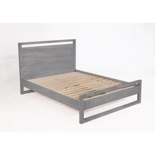 Vadstena Bed - Queen, Grey Finish
