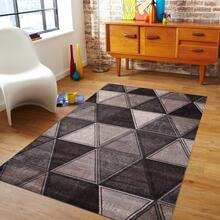 "Power Loomed Hand Carved Geometric Design Tara 301 Area Rug by Rug Factory Plus - 7'6"" x 10'3"""