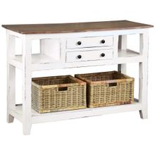 See Details - Sideboard / Island - Distressed White and Brown
