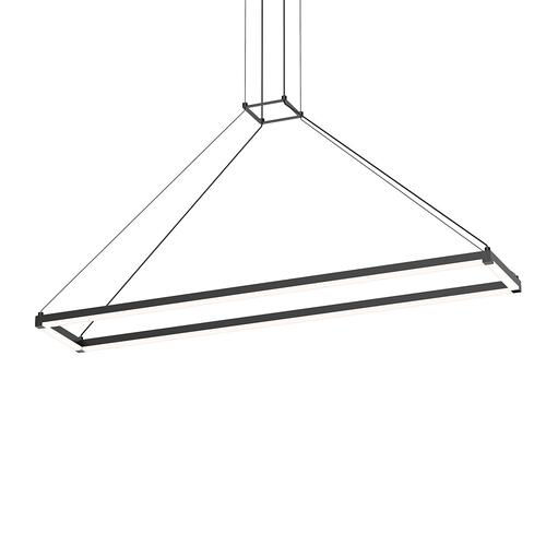 "Sonneman - A Way of Light - Stix Rectangle [Size=47"" x 9"", Color/Finish=Satin Black]"
