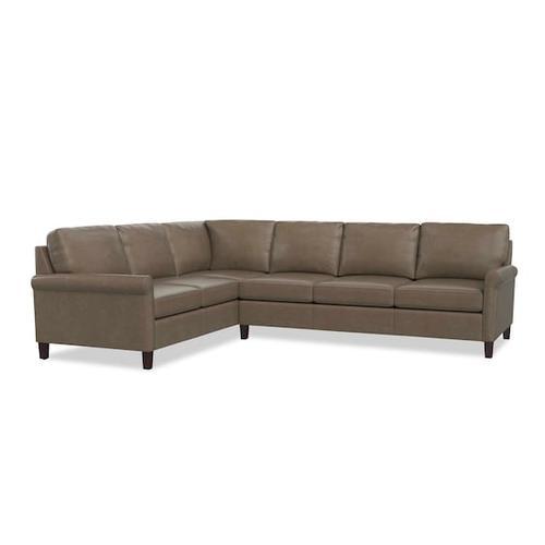 Bassett Furniture - Wellington Leather L-Shaped Sectional